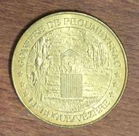 24 GOUFFRE DE PROUMEYSSAC LE BUGUE SUR VÉZÈRE MEDAILLE TOURISTIQUE MONNAIE DE PARIS 2010 JETON MEDALS COINS TOKENS - 2010