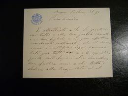 ORIGINALE CARTONCINO DA VISITA   CONSIGLIO DI STATO REGNO D'ITALIA  1891 - Manuscripts