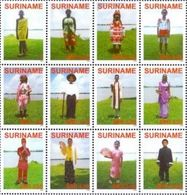 Suriname 2008, Traditional Clothes, MNH Sheet - Surinam