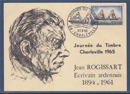 Journée Du Timbre 1965 Charleville 27.3.65 N°1446 La Guienne, Illustration Jean Rogissart écrivain Ardennais - Tag Der Briefmarke