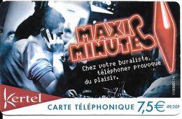 CARTE PREPAYEE-KERTEL-7,5€-MAXI MINUTE-Gratté-TBE - France