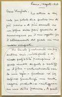 Aldo Vergano (1891-1957) - Italian Director - Autograph Letter Signed  - COA - Autografi