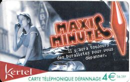 CARTE PREPAYEE-KERTEL-4€-MAXI MINUTE-DEPANNAGE-Gratté-TBE-RARE - France