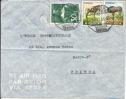 Angola. Enveloppe Par Avion Luanda Central Pour Paris En 1953 - Angola