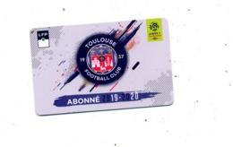 Carte Abonnement Match Toulouse 2019/2020 - Altri