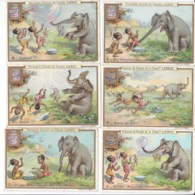 CHROMO Liebig - L'Eléphant Et La Bulle De Savon - S553 - 6 Chromo's - Liebig
