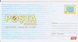 CORONA VIRUS, COVID-19 STAY HOME, WE WILL COME TO YOU ROMANIA STATIONERY - Medicina