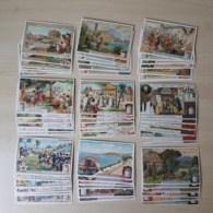 CHROMO Liebig - Lot Collection - 9 Sets Complets - 54 Cards - Côte D'Azur , Fleuves D'Europe , ... - Liebig