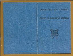 Cartão Do Ministério Da Marinha, Serviço De Mobilização Indústrial De 1971.  Ministry Of The Navy Card, Industrial Mobi - Historische Dokumente