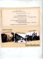 Carte Invitation Evacuation Dans Les Landes Saint Louis - Historische Dokumente