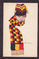 CPA Nanni Femme Girl Women Illustrateur Italie Circulé Mode Chapeau - Nanni