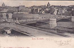 ROMA - PONTE GARIBALDI SUL TEVERE - CUPOLA DI S.PIETRO - 1901 - Ponti