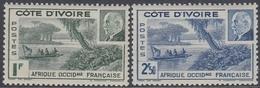 Ivory Coast 1941 - Marshal Philippe Pétain: Ébrié Lagoon - Mi 184-185 ** MNH - Neufs