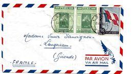 Per056 / Elektrische  Telegrafie + Franz. + Peruanische Flagge 1959 Nach Frankreich - Pérou