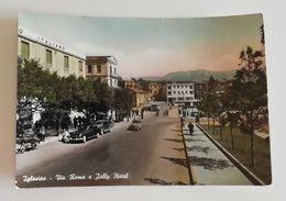 Cartolina Illustrata Iglesias - Via Roma E Jolly Hotel, Per Bologna 1956 - Iglesias