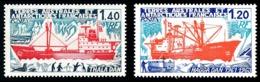 TAAF 1977 - Yv. 66 Et 67 *   Cote= 7,60 EUR - Bateaux Magga Dan Et Thala Dan (2 Val.)  ..Réf.TAF21076 - Neufs