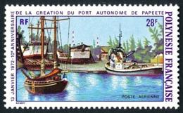 POLYNESIE 1972 - Yv. PA 60 ** TB  Cote= 16,00 EUR - Port Autonome De Papeete  ..Réf.POL25150 - Oblitérés