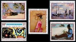 POLYNESIE 1970 - Yv. PA 40 41 42 43 Et 44 ** SUP  Cote= 110,00 EUR - Tableaux D'Artistes Polyn. (5 Val.) ..Réf.POL25143 - Unused Stamps