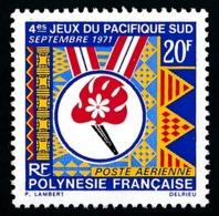 POLYNESIE 1971 - Yv. PA 45 ** SUP  Cote= 9,50 EUR - Jeux Du Pacifique-Sud  ..Réf.POL25144 - Oblitérés