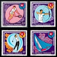 POLYNESIE 1971 - Yv. PA 51 52 53 Et 54 ** TB  Cote= 65,00 EUR - Yachting, Golf, Tir àl'arc Tennis (4 Val) .Réf.POL25148 - Oblitérés