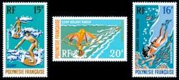 POLYNESIE 1971 - Yv. PA 48 49 Et 50 ** TB  Cote= 33,00 EUR - Sports Nautiques (3 Val.)  ..Réf.POL25147 - Unused Stamps