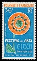 POLYNESIE 1972 - Yv. PA 63 ** TB  Cote= 11,00 EUR - Arts Du Pacifique-Sud  ..Réf.POL25153 - Oblitérés