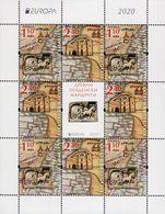Bulgaria - 2020 - Europa CEPT - Ancient Postal Routes - Mint Miniature Stamp Sheet - Bulgaria