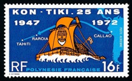 POLYNESIE 1972 - Yv. PA 64 **   Cote= 16,00 EUR - Arrivée Du Kon-Tiki à Tahiti  ..Réf.POL25154 - Oblitérés