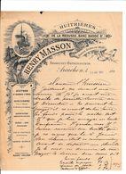 ARCACHON BELLE FACTURE HUITRIERES DE LA REOUSSE BANC BADOC 1899 - France