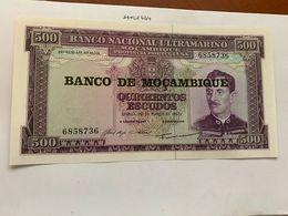 Mozambique 500 Escudos Uncirc. Banknote 1967 #1 - Mozambique