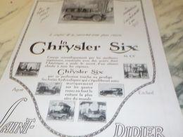ANCIENNE PUBLICITE LA LIGNE PLUS PUR VOITURE  CHRYSLER 1925 - Cars