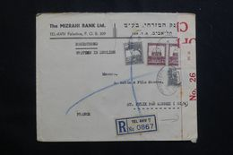 PALESTINE - Enveloppe Commerciale En Recommandé De Tel Aviv Pour La France En 1939 Avec Contrôle Postal -  L 64529 - Palestina
