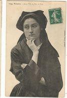 CPA,.29 , N°1244, Pensive , Jeune Fille De L' île De Sein , Ed. Villard - Ile De Sein