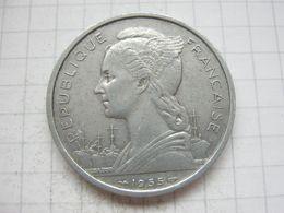Reunion , 5 Francs 1955 - Reunión