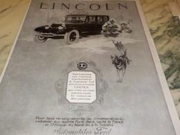 ANCIENNE PUBLICITE TOUTE LA PUISSANCE  VOITURE  LINCOLN 1925 - Cars