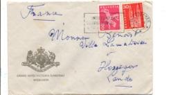 SUISSE LETTRE A EN TETE D'HOTEL DE INTERLAKEN POUR LA FRANCE 1962 - Svizzera