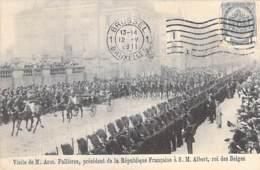 EVENEMENT Réception - BRUXELLES Belgique - Visite De M. FALLIERES (Président France) à S.M. ALBERT Roi Des Belges - CPA - Recepties