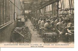"""LOIRE ST EIENNE MANUFACTURE D""""ARMES ET DE CYCLES ATELIER DE POLISSAGE ANIMEE VERSO PUBLICITE - Saint Etienne"""