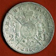 NAPOLEON III / 2 FRANCS / 1866 A : ETAT TRES MEDIOCRE ! - France
