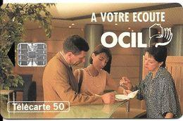 CARTE-PUCE-PRIVEE-PUBLIC- EN 1039- 50U-SC7-10/94-OCIL- V°N°C4A146933-R° Glacé-Utilisé-TBE - France