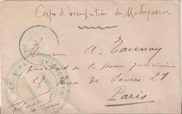 """MADAGASCAR : EN FM . """" CORPS EXPT DE MADAGASCAR """" . DATEE DE BEFORONA . 1902 . - Brieven En Documenten"""