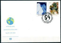 ONU New-York 2020 - Earth Day - Journée De La Terre - Tag Der Erde FDC - Protection De L'environnement & Climat