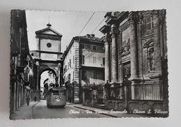 Cartolina Illustrata Chieri - Via Vittorio Emanuele E Chiesa S.Filippo, Per Bologna 1956 - Otras Ciudades