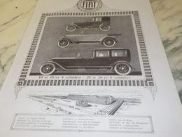 ANCIENNE PUBLICITE DIVERS MODELES VOITURE FIAT  1925 - Cars