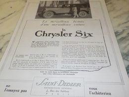 ANCIENNE PUBLICITE UNE MERVEILLEUSE VOITURE  CHRYSLER 1925 - Cars