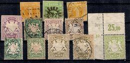 Bavière Belle Petite Collection De Bonnes Valeurs 1850/1901. B/TB. A Saisir! - Bayern
