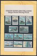 COCOS (Keeling) Islands Historic Ship Set Stamp Pack 1976 Presentation - Cocos (Keeling) Islands