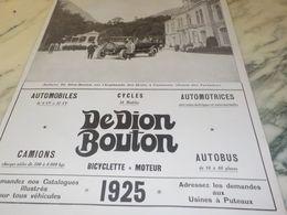 ANCIENNE PUBLICITE  AUTOCAR A  CAUTERETS  DEDION BOUTON  1925 - Transportation