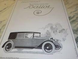 ANCIENNE PUBLICITE VOITURES BALLOT 2 LITRES 1925 - Cars
