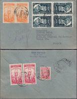 Romania - Reg. Cover MiNr. 1095 K (Tete-Beche), Bucuresti 30.9.1948 - Paris. - Enteros Postales